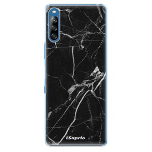 Plastové pouzdro iSaprio - Black Marble 18 - na mobil Sony Xperia L4