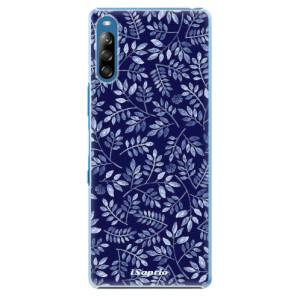 Plastové pouzdro iSaprio - Blue Leaves 05 - na mobil Sony Xperia L4