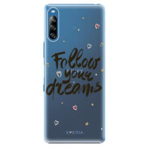 Plastové pouzdro iSaprio - Follow Your Dreams - black - na mobil Sony Xperia L4