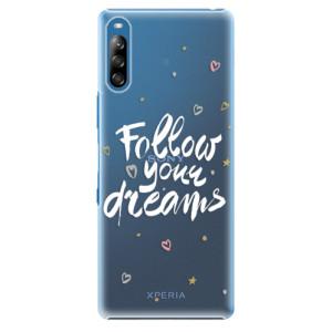 Plastové pouzdro iSaprio - Follow Your Dreams - white - na mobil Sony Xperia L4