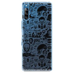 Plastové pouzdro iSaprio - Comics 01 - black - na mobil Sony Xperia L4