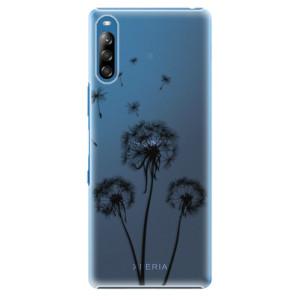 Plastové pouzdro iSaprio - Three Dandelions - black - na mobil Sony Xperia L4