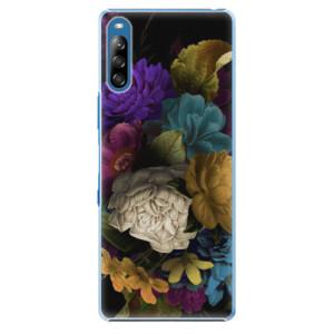 Plastové pouzdro iSaprio - Dark Flowers - na mobil Sony Xperia L4