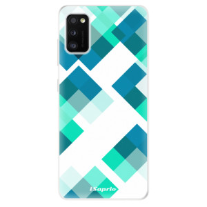 Odolné silikonové pouzdro iSaprio - Abstract Squares 11 - na mobil Samsung Galaxy A41
