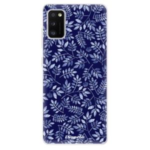 Odolné silikonové pouzdro iSaprio - Blue Leaves 05 - na mobil Samsung Galaxy A41