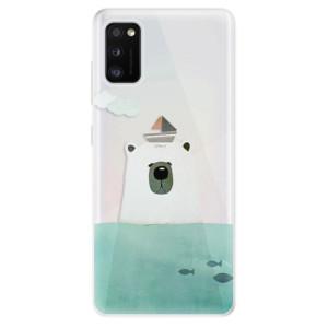 Odolné silikonové pouzdro iSaprio - Bear With Boat - na mobil Samsung Galaxy A41