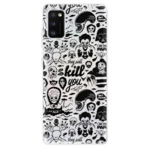 Odolné silikonové pouzdro iSaprio - Comics 01 - black - na mobil Samsung Galaxy A41