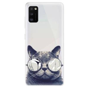 Odolné silikonové pouzdro iSaprio - Crazy Cat 01 - na mobil Samsung Galaxy A41