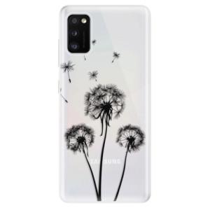 Odolné silikonové pouzdro iSaprio - Three Dandelions - black - na mobil Samsung Galaxy A41