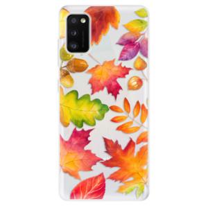 Odolné silikonové pouzdro iSaprio - Autumn Leaves 01 - na mobil Samsung Galaxy A41