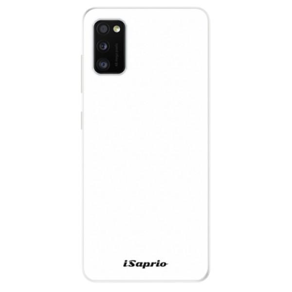 Odolné silikonové pouzdro iSaprio - 4Pure - bílý - Samsung Galaxy A41