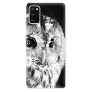 Odolné silikonové pouzdro iSaprio - BW Owl - na mobil Samsung Galaxy A41