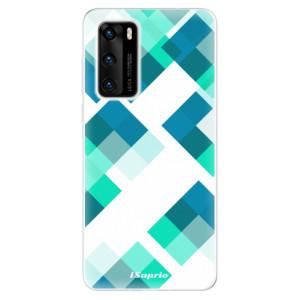 Odolné silikonové pouzdro iSaprio - Abstract Squares 11 - na mobil Huawei P40