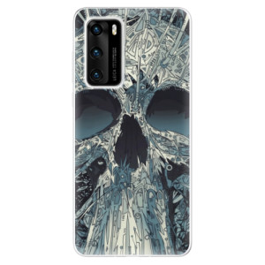 Odolné silikonové pouzdro iSaprio - Abstract Skull - na mobil Huawei P40