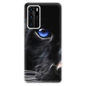 Odolné silikonové pouzdro iSaprio - Black Puma - na mobil Huawei P40