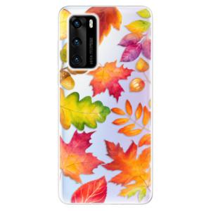 Odolné silikonové pouzdro iSaprio - Autumn Leaves 01 - na mobil Huawei P40