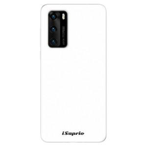Odolné silikonové pouzdro iSaprio - 4Pure - bílé - na mobil Huawei P40