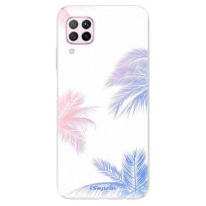 Odolné silikonové pouzdro iSaprio - Digital Palms 10 - na mobil Huawei P40 Lite