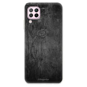 Odolné silikonové pouzdro iSaprio - Black Wood 13 - na mobil Huawei P40 Lite