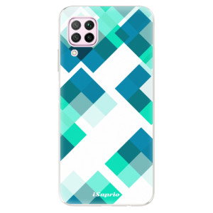 Odolné silikonové pouzdro iSaprio - Abstract Squares 11 - na mobil Huawei P40 Lite