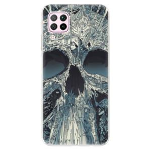 Odolné silikonové pouzdro iSaprio - Abstract Skull - na mobil Huawei P40 Lite