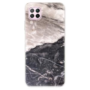 Odolné silikonové pouzdro iSaprio - BW Marble - na mobil Huawei P40 Lite