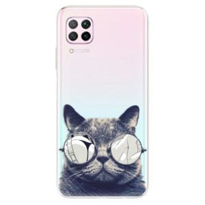 Odolné silikonové pouzdro iSaprio - Crazy Cat 01 - na mobil Huawei P40 Lite