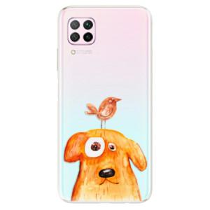 Odolné silikonové pouzdro iSaprio - Dog And Bird - na mobil Huawei P40 Lite