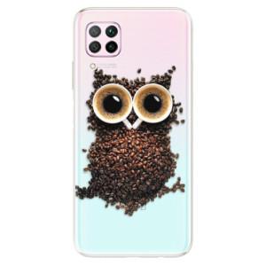 Odolné silikonové pouzdro iSaprio - Owl And Coffee - na mobil Huawei P40 Lite - poslední kousek za tuto cenu