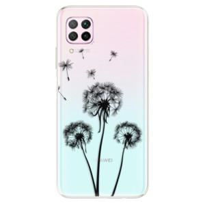 Odolné silikonové pouzdro iSaprio - Three Dandelions - black - na mobil Huawei P40 Lite