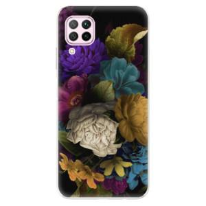 Odolné silikonové pouzdro iSaprio - Dark Flowers - na mobil Huawei P40 Lite