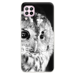 Odolné silikonové pouzdro iSaprio - BW Owl - na mobil Huawei P40 Lite