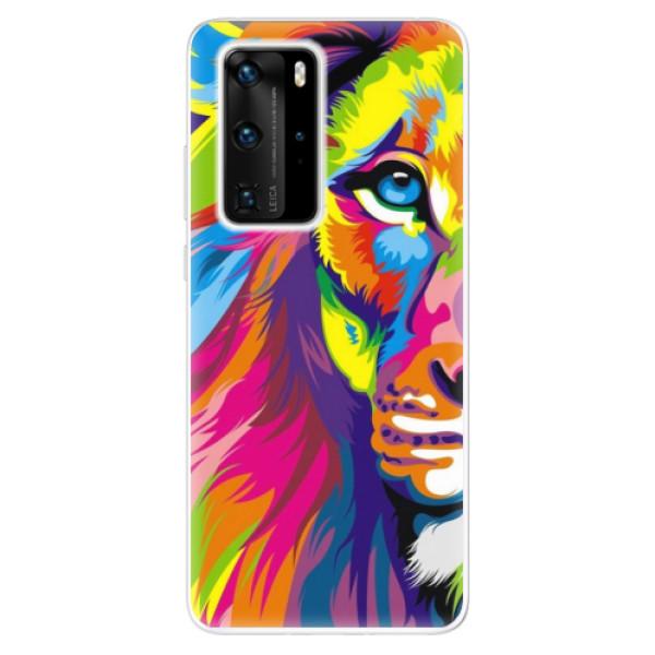 Odolné silikonové pouzdro iSaprio - Rainbow Lion - Huawei P40 Pro