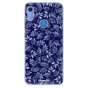 Odolné silikonové pouzdro iSaprio - Blue Leaves 05 - na mobil Huawei Y6s