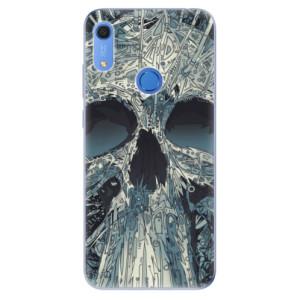 Odolné silikonové pouzdro iSaprio - Abstract Skull - na mobil Huawei Y6s