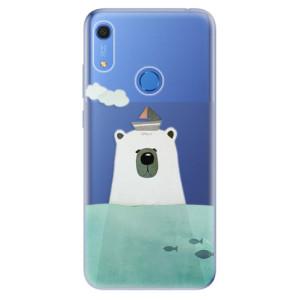 Odolné silikonové pouzdro iSaprio - Bear With Boat - na mobil Huawei Y6s