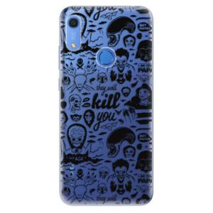 Odolné silikonové pouzdro iSaprio - Comics 01 - black - na mobil Huawei Y6s