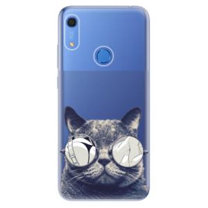 Odolné silikonové pouzdro iSaprio - Crazy Cat 01 - na mobil Huawei Y6s