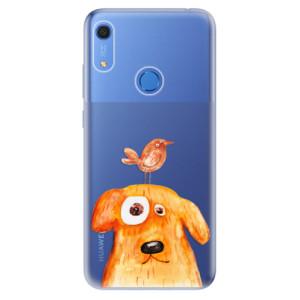 Odolné silikonové pouzdro iSaprio - Dog And Bird - na mobil Huawei Y6s