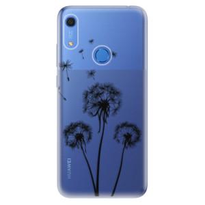 Odolné silikonové pouzdro iSaprio - Three Dandelions - black - na mobil Huawei Y6s