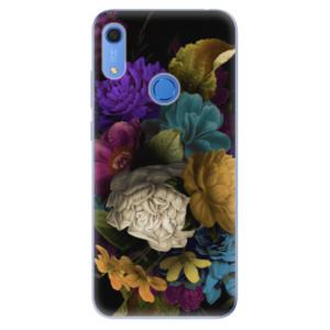 Odolné silikonové pouzdro iSaprio - Dark Flowers - na mobil Huawei Y6s