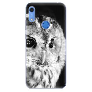 Odolné silikonové pouzdro iSaprio - BW Owl - na mobil Huawei Y6s