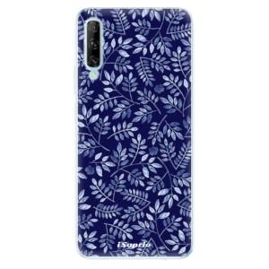 Odolné silikonové pouzdro iSaprio - Blue Leaves 05 - na mobil Huawei P Smart Pro