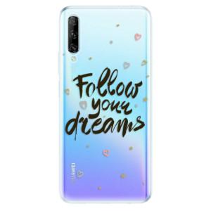 Odolné silikonové pouzdro iSaprio - Follow Your Dreams - black - na mobil Huawei P Smart Pro