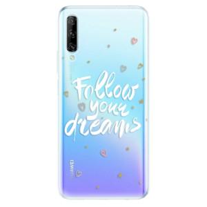 Odolné silikonové pouzdro iSaprio - Follow Your Dreams - white - na mobil Huawei P Smart Pro