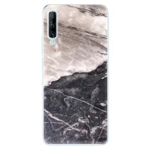 Odolné silikonové pouzdro iSaprio - BW Marble - na mobil Huawei P Smart Pro