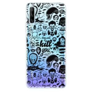Odolné silikonové pouzdro iSaprio - Comics 01 - black - na mobil Huawei P Smart Pro
