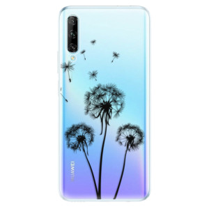 Odolné silikonové pouzdro iSaprio - Three Dandelions - black - na mobil Huawei P Smart Pro
