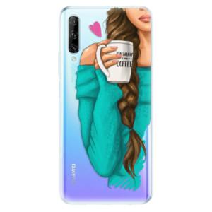 Odolné silikonové pouzdro iSaprio - My Coffe and Brunette Girl - na mobil Huawei P Smart Pro