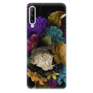 Odolné silikonové pouzdro iSaprio - Dark Flowers - na mobil Huawei P Smart Pro